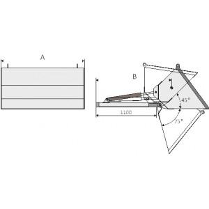 Гидравлический ковш с креплением на вилы погрузчика