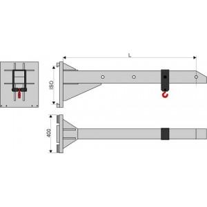 Стрела безблочная длина 2,0 метра