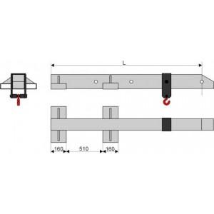 Стрела безблочная (крепление на вилы)